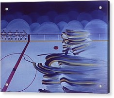 Cross Ice Pass Acrylic Print by Ken Yackel