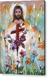 Cross Of Christ Acrylic Print by Mary Spyridon Thompson