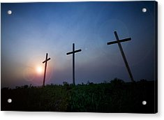 Crosses Three Acrylic Print by Jeff Klingler