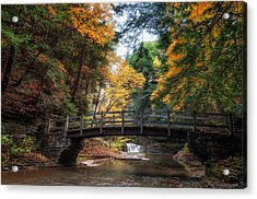 Crossing Over Acrylic Print by Mark Papke