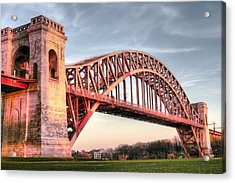 Crossing The East River Acrylic Print by JC Findley