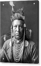 Crow Indian Circa 1908 Acrylic Print by Aged Pixel
