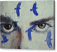 Crows Acrylic Print by Michael Creese