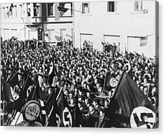 Crowd In Oberwart, Austria, Saluting Acrylic Print by Everett