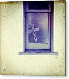Crucifix In A Window Acrylic Print by YoPedro