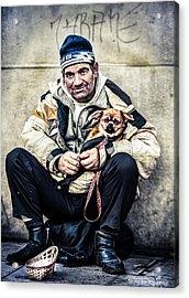 Cruel Street Life Acrylic Print by Stwayne Keubrick