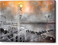 Cruise Boat Lamps Acrylic Print by Betsy C Knapp