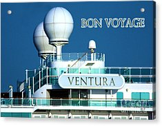 Cruise Ship Ventura's Radar Domes Acrylic Print by Terri Waters