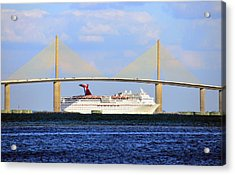 Cruising Tampa Bay Acrylic Print by David Lee Thompson