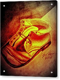 Crushed Baby Shoe Acrylic Print by Irving Starr