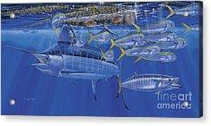 Crystal Blue Off00100 Acrylic Print by Carey Chen