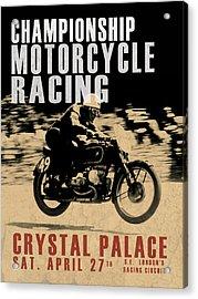Crystal Palace Motorcycle Racing Acrylic Print by Mark Rogan