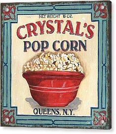 Crystal's Popcorn Acrylic Print by Debbie DeWitt