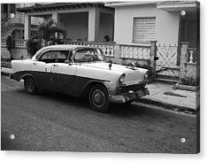 Cuban Car Acrylic Print by Norman Pogson