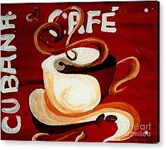 Cubana Cafe Acrylic Print by Jayne Kerr