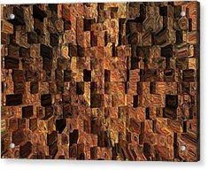 Cubed Acrylic Print by Jack Zulli