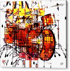 Cubist Drums Acrylic Print by Russell Pierce