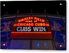Cubs Win Acrylic Print by Steve Gadomski
