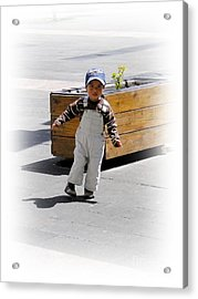 Cuenca Kids 279 Acrylic Print by Al Bourassa