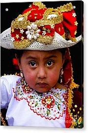 Cuenca Kids 309 Acrylic Print by Al Bourassa