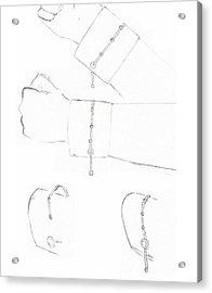 Cufflink Bracelets Acrylic Print by Giuliano Capogrossi Colognesi