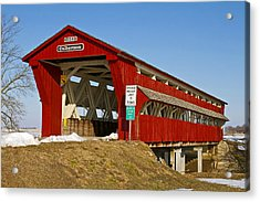 Culbertson Or Treacle Creek Covered Bridge Acrylic Print by Jack R Perry