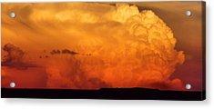 Cumulus Congestus Sunset Acrylic Print by Dan Sproul