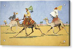 Cup And Ball-the Camels Favourite Game Acrylic Print by Lance Thackeray