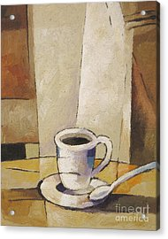 Cup Of Coffee Acrylic Print by Lutz Baar