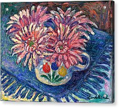 Cup Of Flowers Acrylic Print by Kendall Kessler