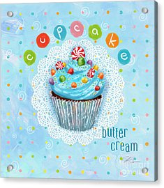 Cupcake-butter Cream Acrylic Print by Shari Warren