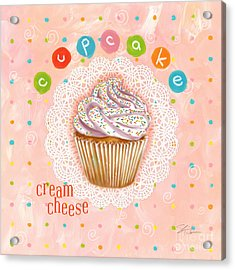 Cupcake-cream Cheese Acrylic Print by Shari Warren