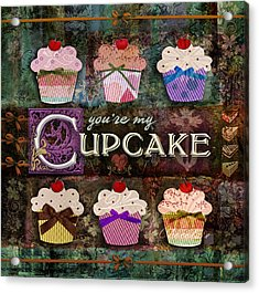 Cupcake Acrylic Print by Evie Cook