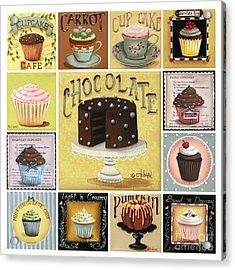 Cupcake Mosaic Acrylic Print by Catherine Holman