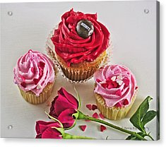 Cupcakes And Roses Acrylic Print by Kenny Francis