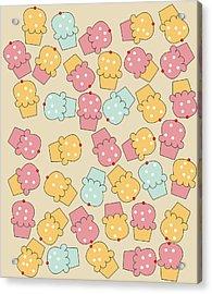 Cupcakes Acrylic Print by Neelanjana  Bandyopadhyay