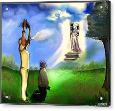 Curandera/ Healer Acrylic Print by Carmen Cordova