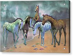Curious Ones Acrylic Print by Betsy C Knapp