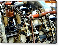 Curtiss Ox-5 Airplane Engine Acrylic Print by Michelle Calkins