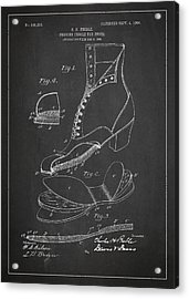 Cushion Insole For Shoes Patent Drawing From 1905 Acrylic Print by Aged Pixel
