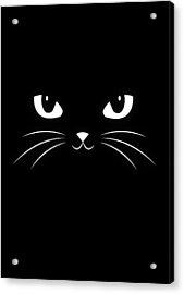 Cute Black Cat Acrylic Print by Philipp Rietz