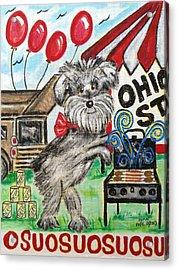 Osu Tailgating Dog Acrylic Print by Diane Pape