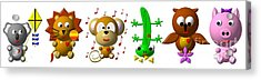 Cute Critters With Heart K To P Acrylic Print by Rose Santuci-Sofranko