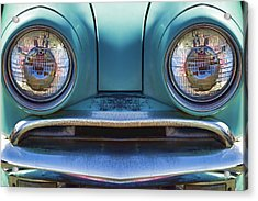 Cute Little Car Faces Number 1 Acrylic Print by Carol Leigh