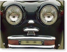 Cute Little Car Faces Number 6 Acrylic Print by Carol Leigh