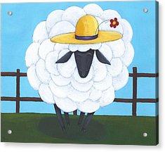 Cute Sheep Nursery Art Acrylic Print by Christy Beckwith
