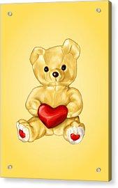 Cute Teddy Bear Hypnotist Acrylic Print by Boriana Giormova