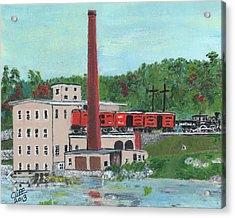 Cutler's Mill - Circa 1870 Acrylic Print by Cliff Wilson
