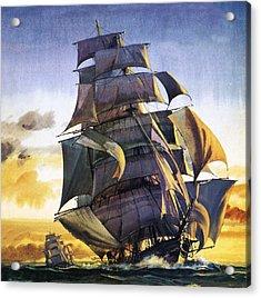 Cutty Sark Acrylic Print by English School