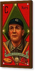 Cy Young 1911 Baseball Card Acrylic Print by Movie Poster Prints